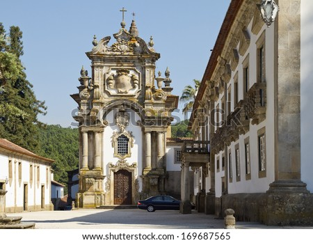Baroque Chapel of Casa de Mateus - stock photo