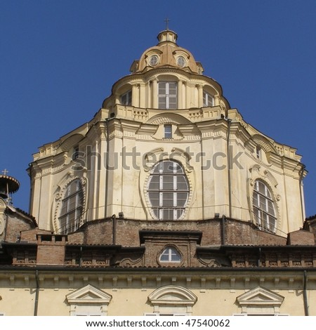 Baroque church of San Lorenzo in Turin (Torino)
