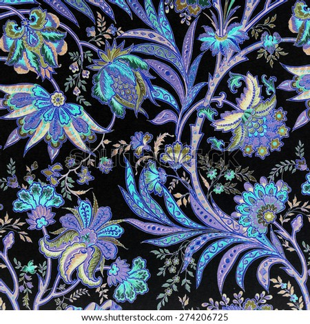 baroque floral pattern - stock photo