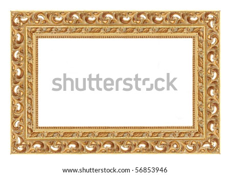 Baroque picture frame to put your own pictures in - stock photo