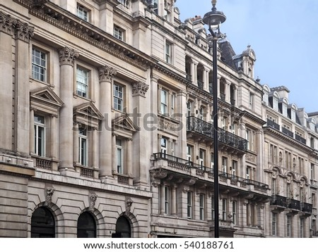 Baroque Style Apartment Buildings London Stock Photo (Royalty Free ...