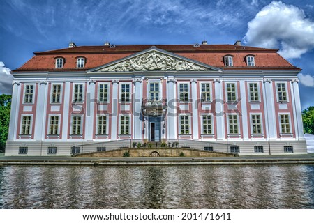 Baroque styled Friedrichsfelde Palace in Berlin, Germany. Hdr image. - stock photo