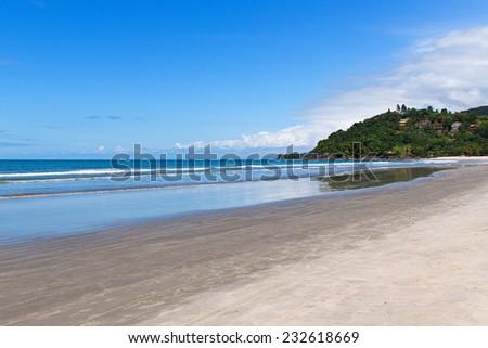 Barra do Sahy beach, Sao Sebastiao, Sao Paulo - Brazil - stock photo
