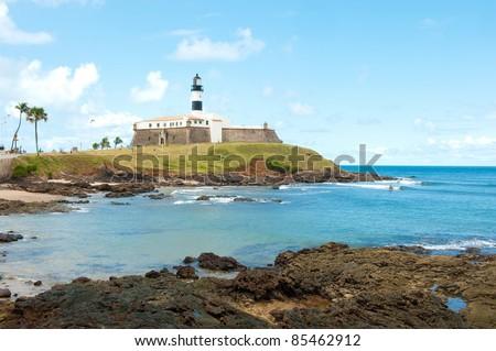 Barra lighthouse, Salvador - Bahia - Brazil - stock photo
