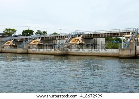 barrage,catchment - stock photo
