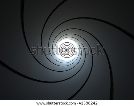 Barrel and target - stock photo