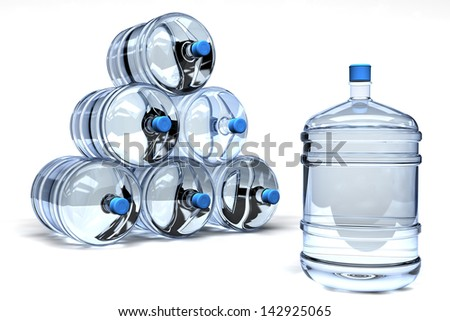 Barrel Mineral water - stock photo