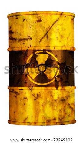 barrel radioactive waste from nuclear power plant station danger of radiation and risk of contamination by gamma radiation radioactivity dangerous toxic container atomic pollution meltdown - stock photo