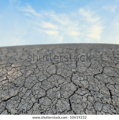 Barren land at summer