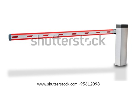 barrier close with isolated - stock photo