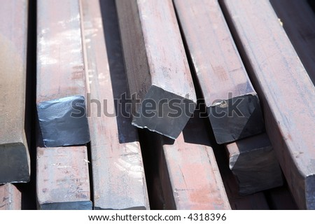 bars made of carbon steel - stock photo