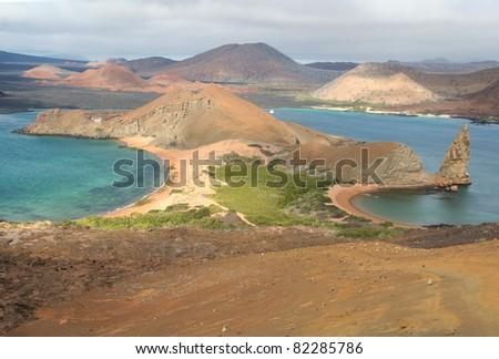Bartolomeo island, Galapagos, Ecuador - stock photo