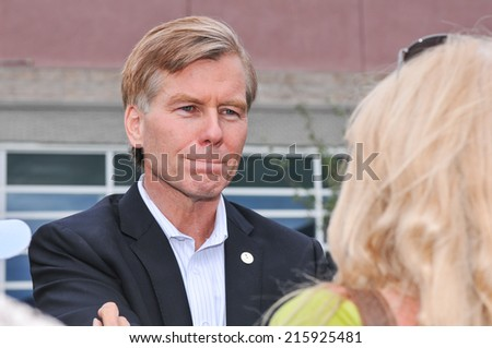 BASALT, CO. - AUG 2, 2012: Bob McConnell then sitting Governor of Virginia appears at a Republican Party rally for Presidential Candidate Mitt Romney - stock photo