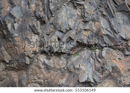 Basalt texture background. Filmed near Badaling Great Wall, China.
