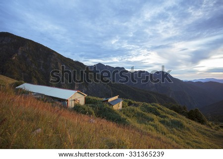 Base Camp Snow Mountain, Taiwan - stock photo