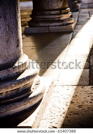 base columns - stock photo