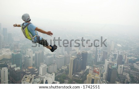 BASE JUMP 03 - stock photo