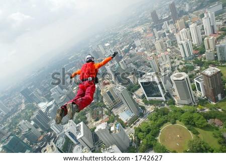 BASE JUMP 08 - stock photo