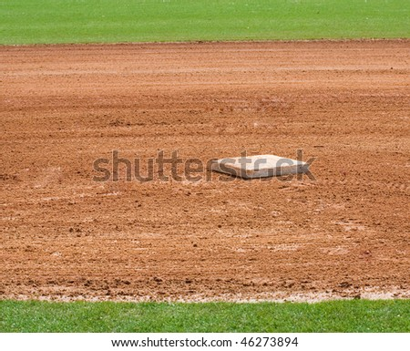 base on infield of a baseball field - stock photo