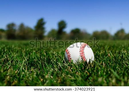 Baseball at a Field in California with Blue Sky