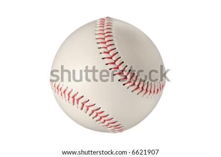 Baseball ball against white background - stock photo