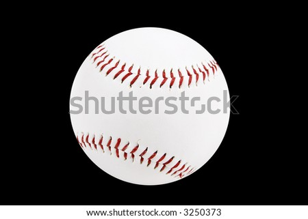 baseball ball isolated on a black background - stock photo