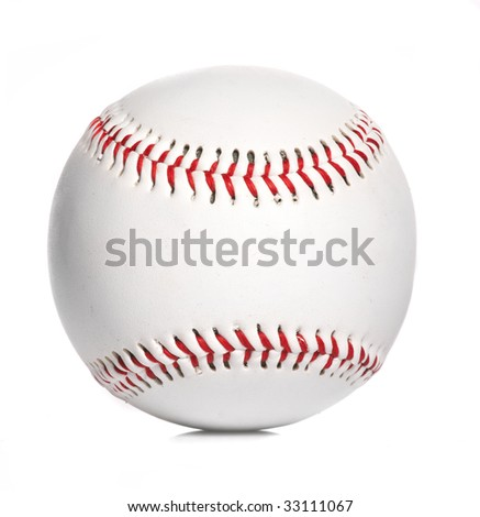 baseball ball, isolated on white