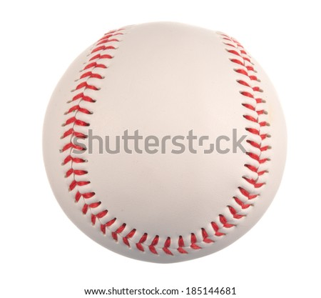 Baseball ball isolated on white background - stock photo