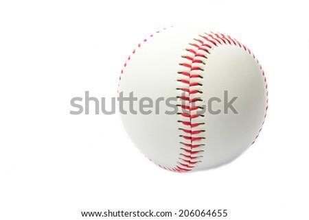 Baseball ball on a white background - stock photo