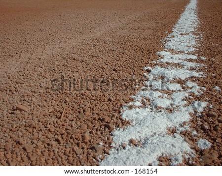 Baseball Base Path Chalk - stock photo