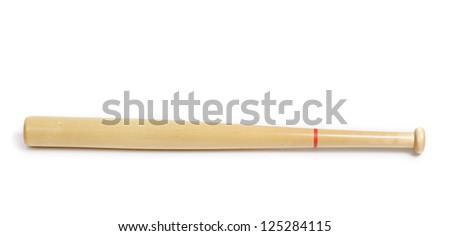 Baseball bat isolated on white background - stock photo