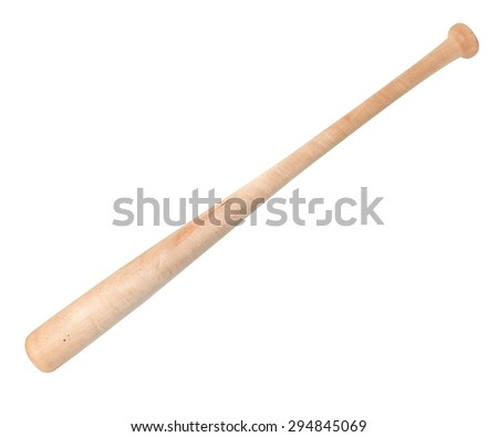 Baseball bat isolated on white background. This has clipping path. - stock photo