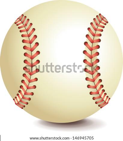 Baseball bitmap copy - stock photo