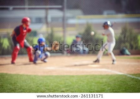 Baseball blur background - stock photo