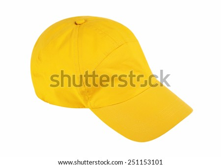Baseball cap isolated on white background w/ clipping path - stock photo