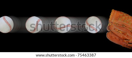 Baseball Fast Ball - stock photo