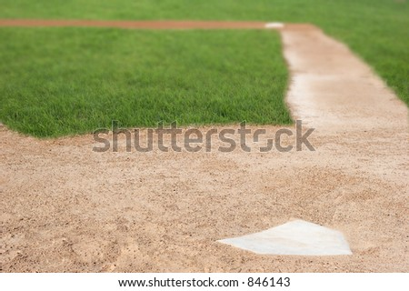 Baseball field - stock photo