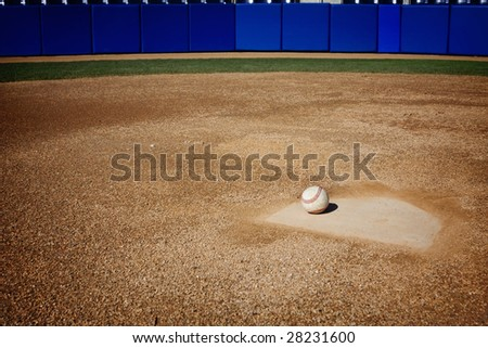 Baseball Field Background - stock photo