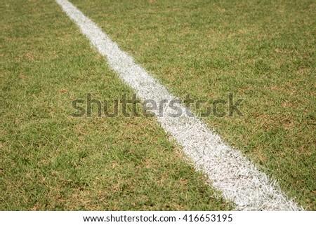 Baseball field line at little league park - stock photo