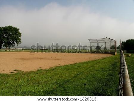 Baseball Field  Middletown, OH - stock photo