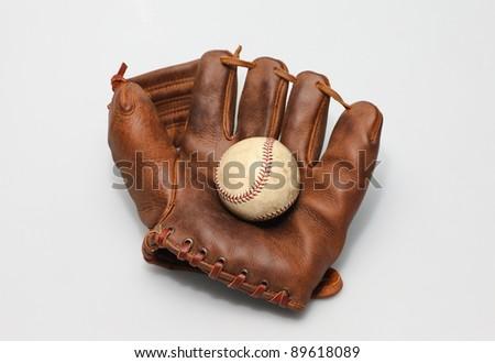Baseball Glove - stock photo