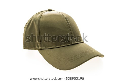 Baseball hat for clothing isolated on white background