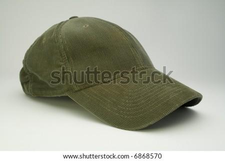 Baseball hat on white background - stock photo