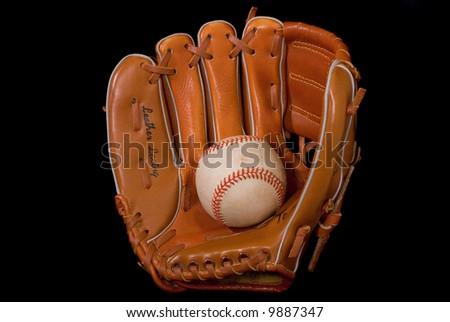 Baseball In Glove. - stock photo