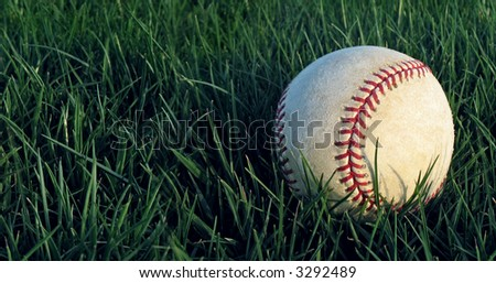 Baseball in Grass 5 of 7 - stock photo