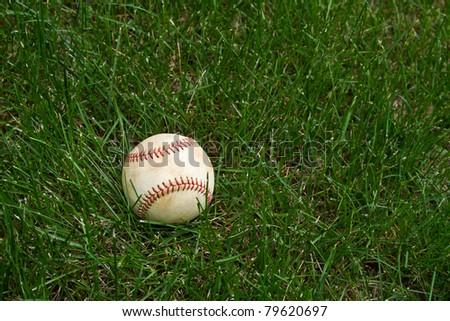Baseball in the Grass - stock photo