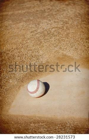Baseball infield Background - stock photo