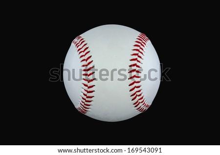 baseball isolated at a black backround cut new - stock photo