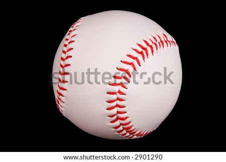 Baseball isolated on black with a clipping path