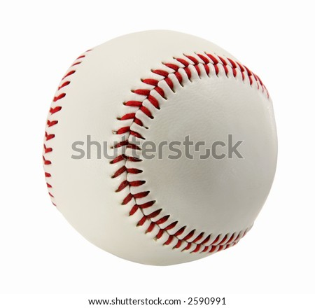 Baseball Isolated on White - stock photo
